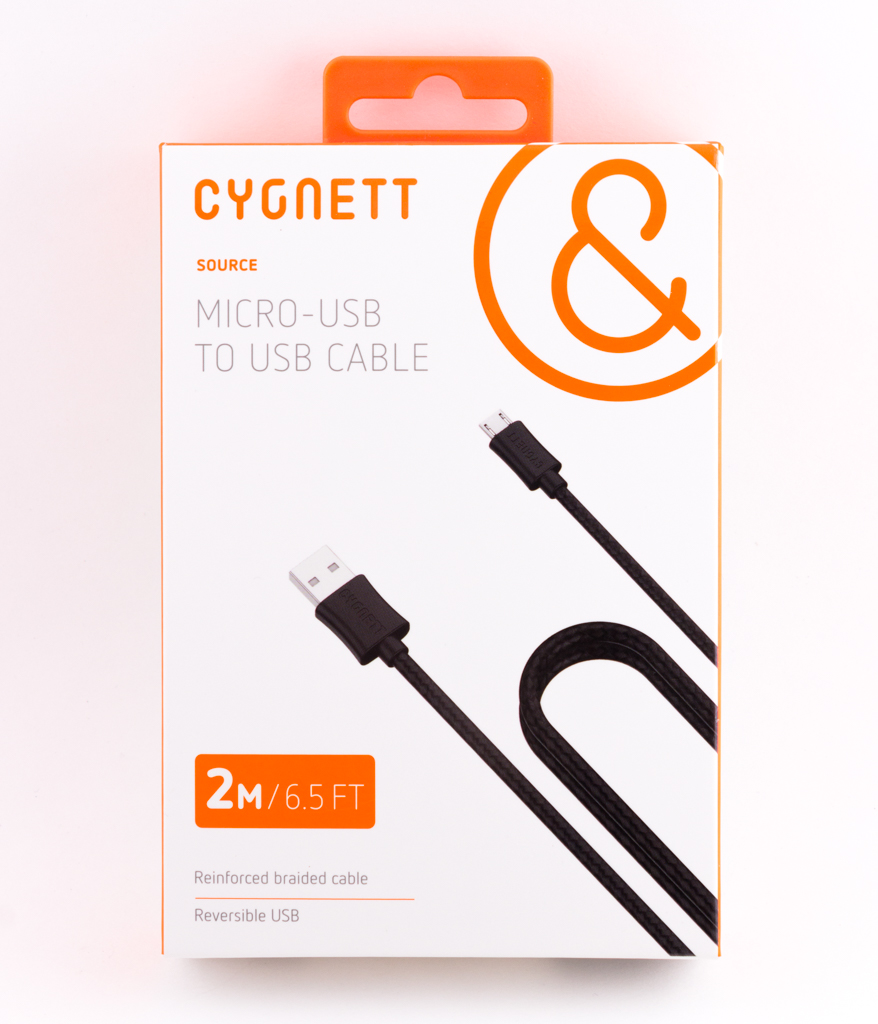 Cygnett Braided USB-to-MicroUSB Cable - 2m/6.5ft